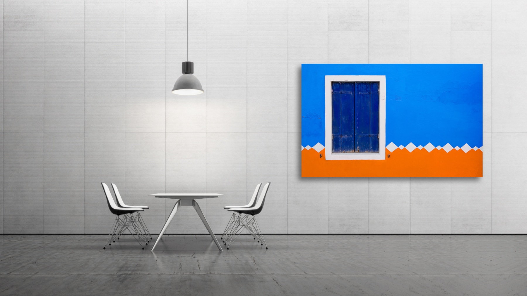 Blue Orange - Italy, Venice, Burano © by Gerry Pacher