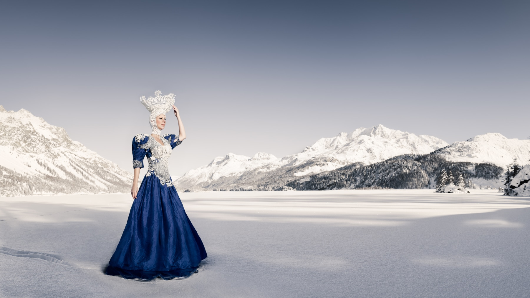 Ice Queen - on a frozen lake © by Gerry Pacher