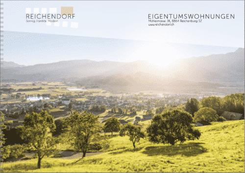 Vermarktungsbroschüre Überbauung Reichenburg in Reichendorf/SZ