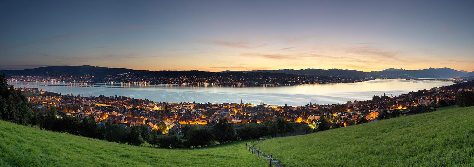 Sonnenaufgang, Wädenswil mit Blick auf den Zürichsee, Stefan, Männedorf, Säntis