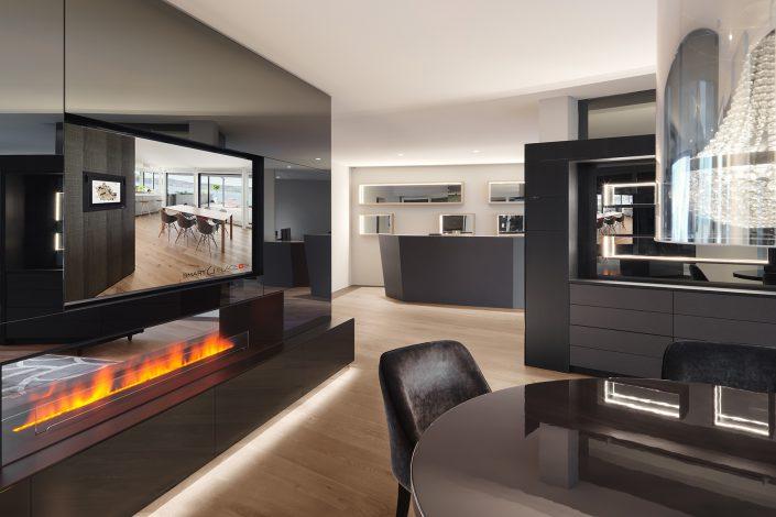 Showroom smart PLACE AG in Lachen - Interiorfotografie