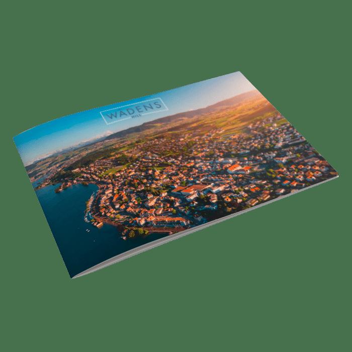 Luftaufnahmen für die Marketingunterlagen des Bauprojekts Wädens-Hill