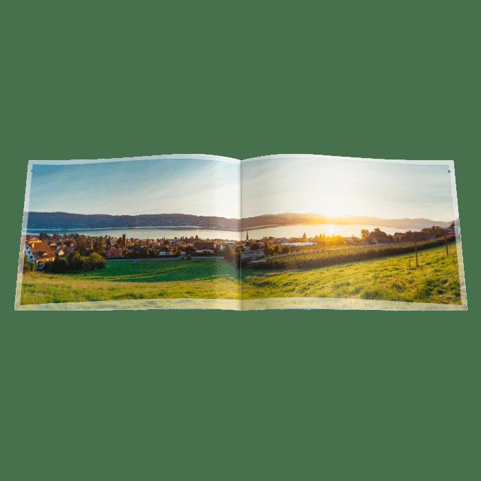 Sonnenaufgang hoch über Wädenswil mit Blick auf den Zürichsee und Säntis. Bilder für das Bauprojekt Wädens-HIll