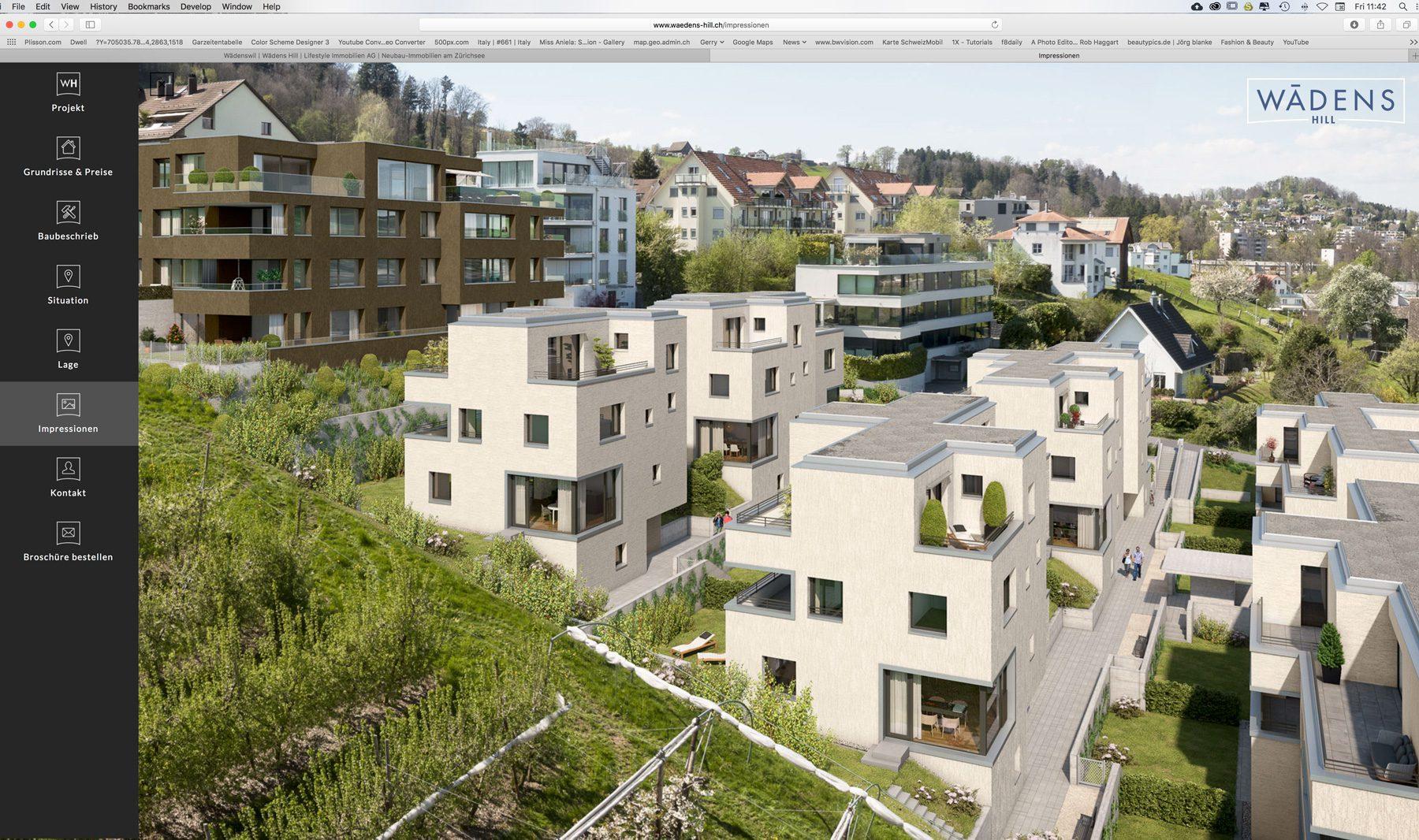 Wädens-Hill Bauprojekt mit Luftaufnahmen von Gerry Pacher Photography