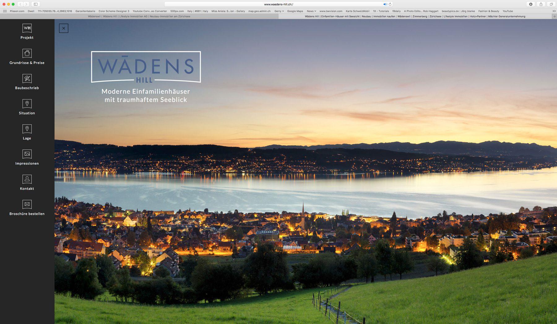 Landschaftsaufnahmen für das Bauprojekt Wädens-Hill in Wädenswil / Sonnenaufgang