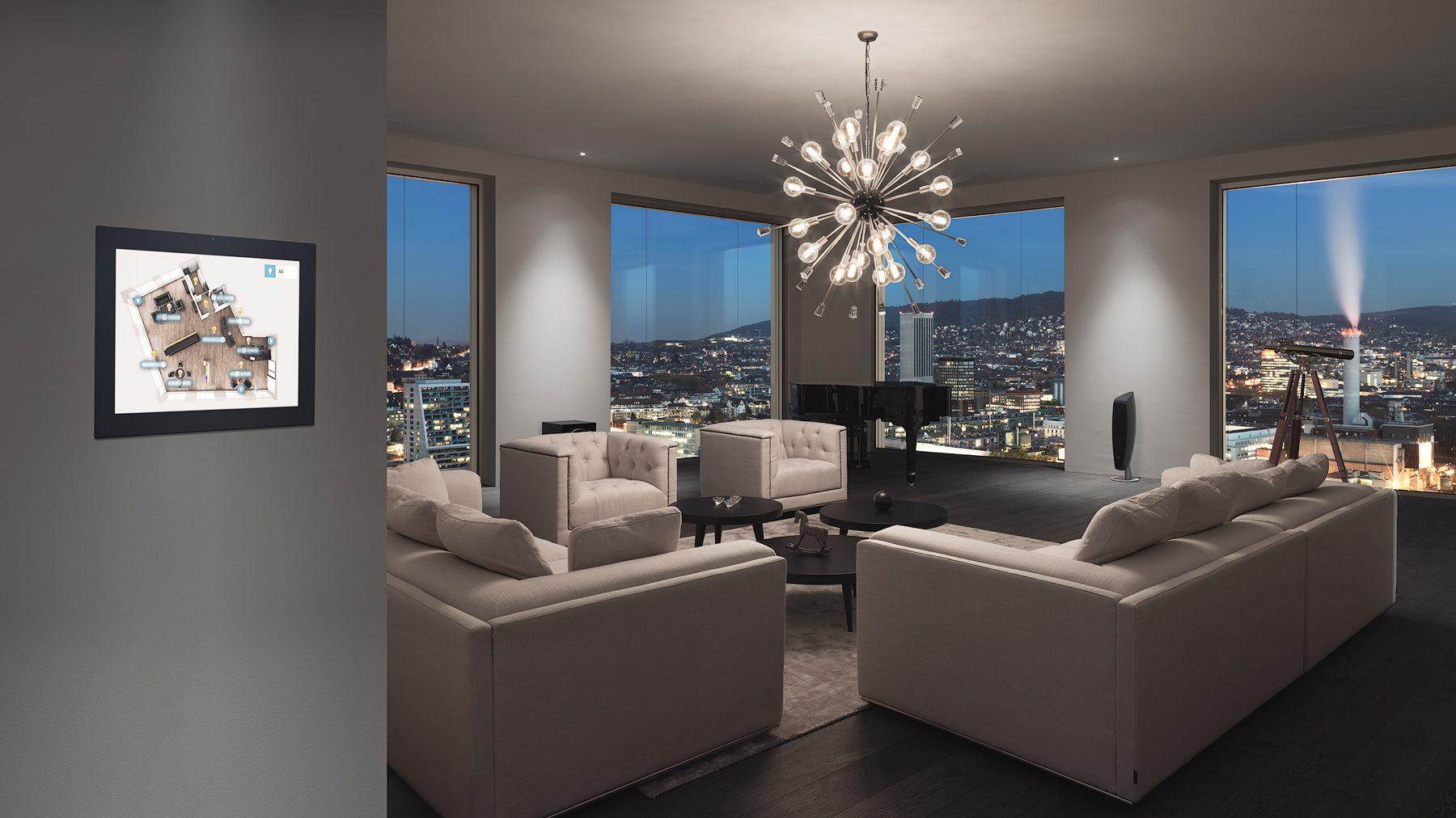 Interiorfotografie / smart Place / Implementierung / Penthouse / Mobimo Tower / Zürich