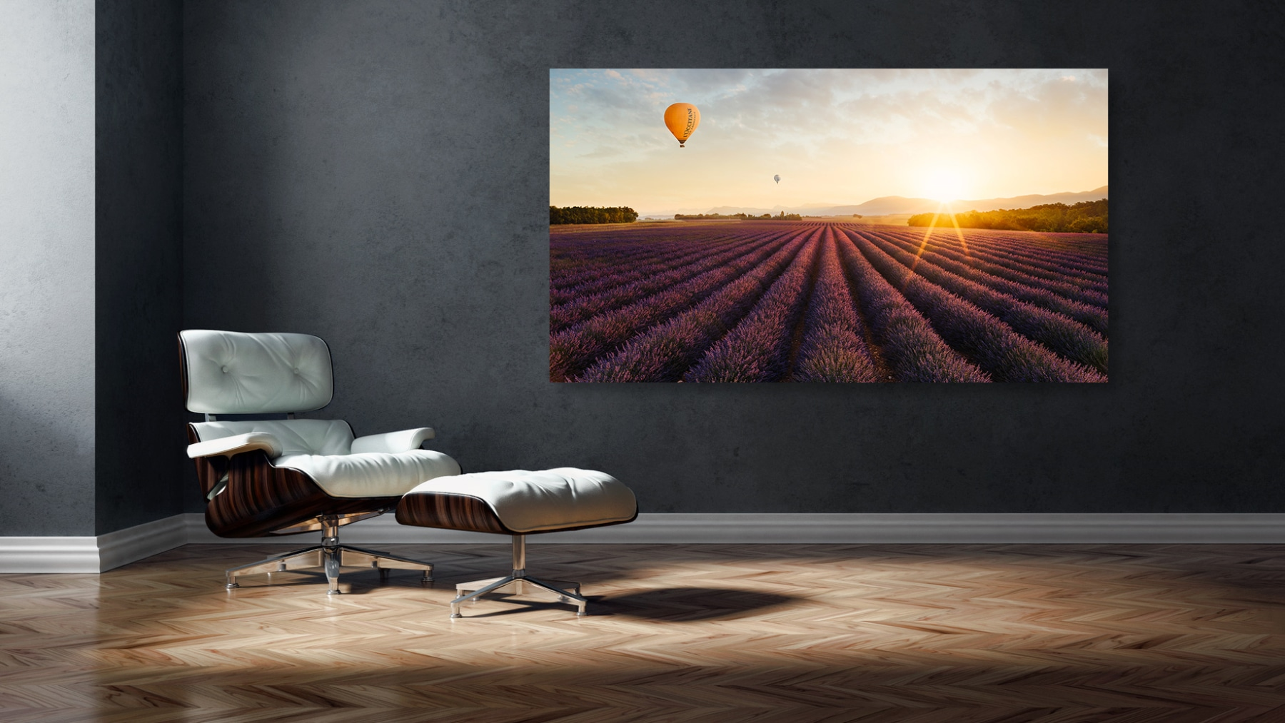 Frankreich - Provence - Valensole - Sonnenaufgang - Ballonfahrt