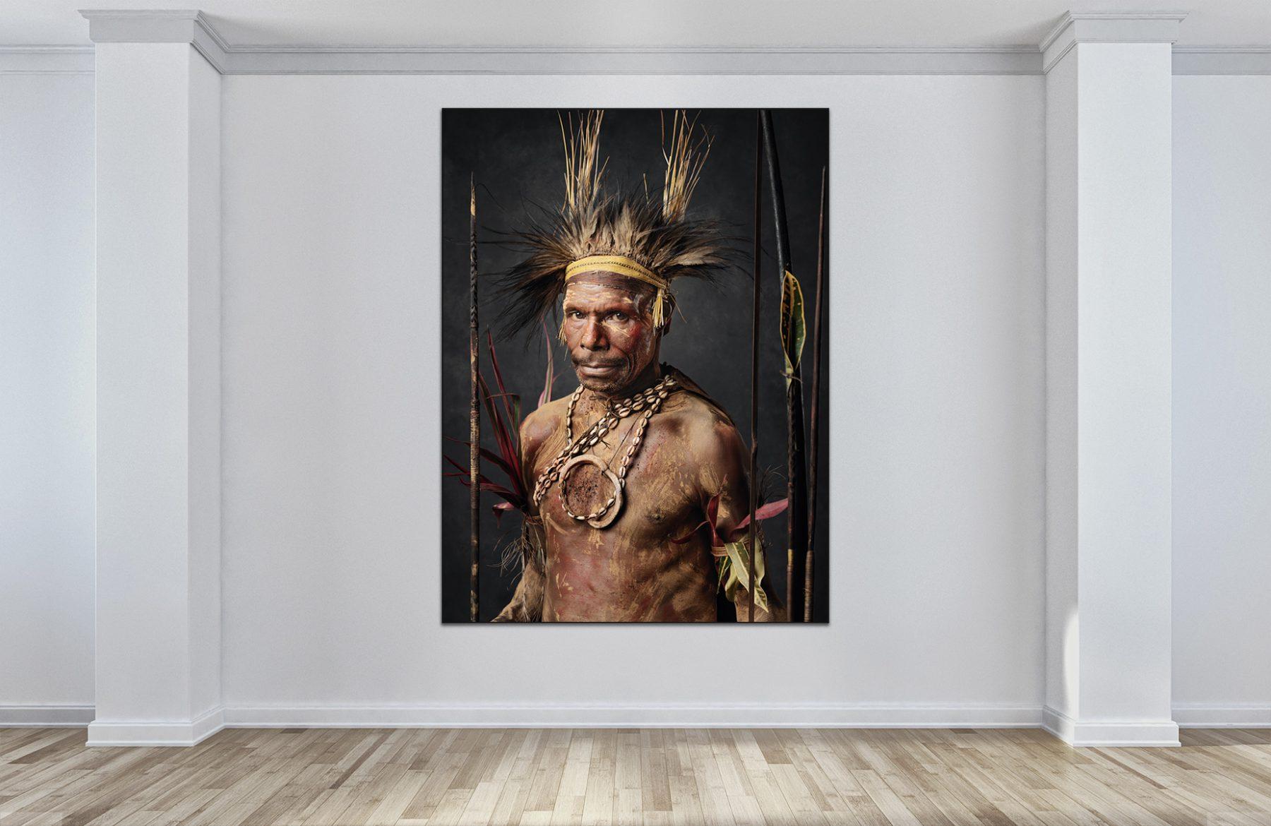 Faces of Papua New Guinea - Fine Art Portrait Serie - brown bush man