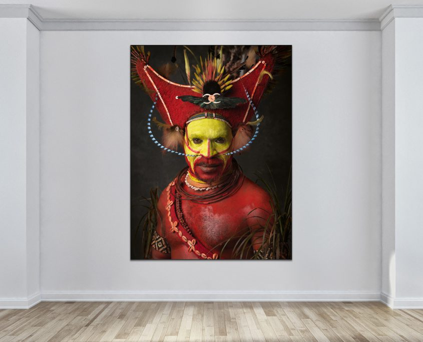 Faces of Papua New Guinea - Fine Art Portrait Serie - Red Tari