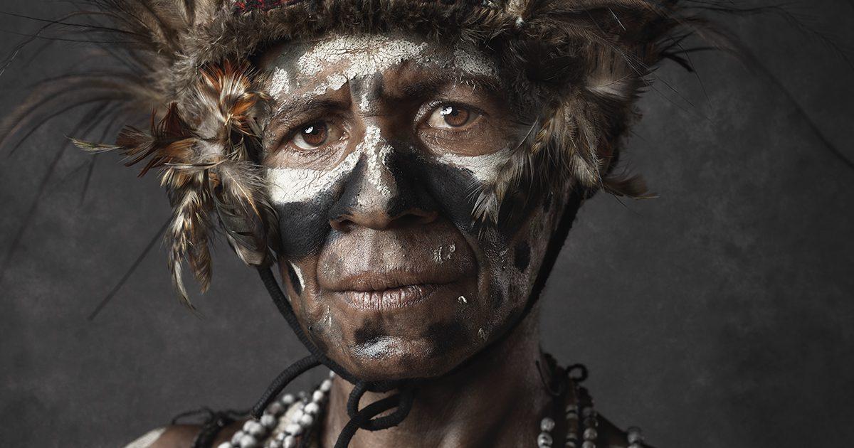 Faces of Papua New Guinea - Fine Art Portrait Serie - shy