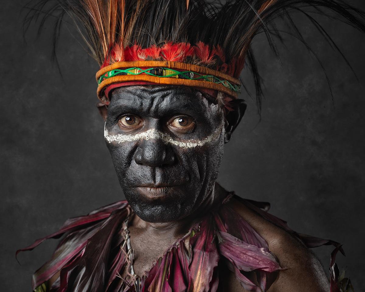 Faces of Papua New Guinea - Fine Art Portrait Serie - Drum Master