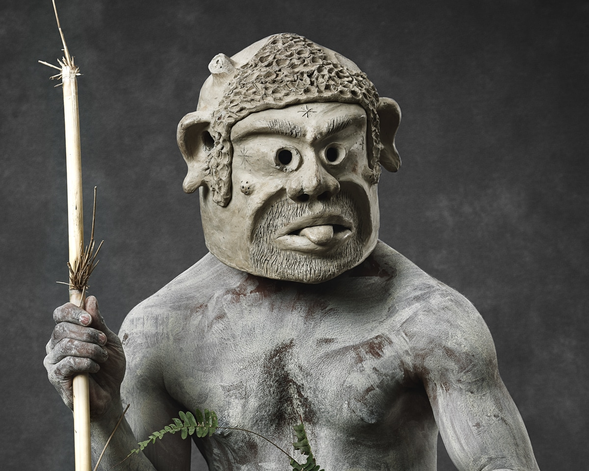 Faces of Papua New Guinea - Fine Art Portrait Serie - Mud Men - old man