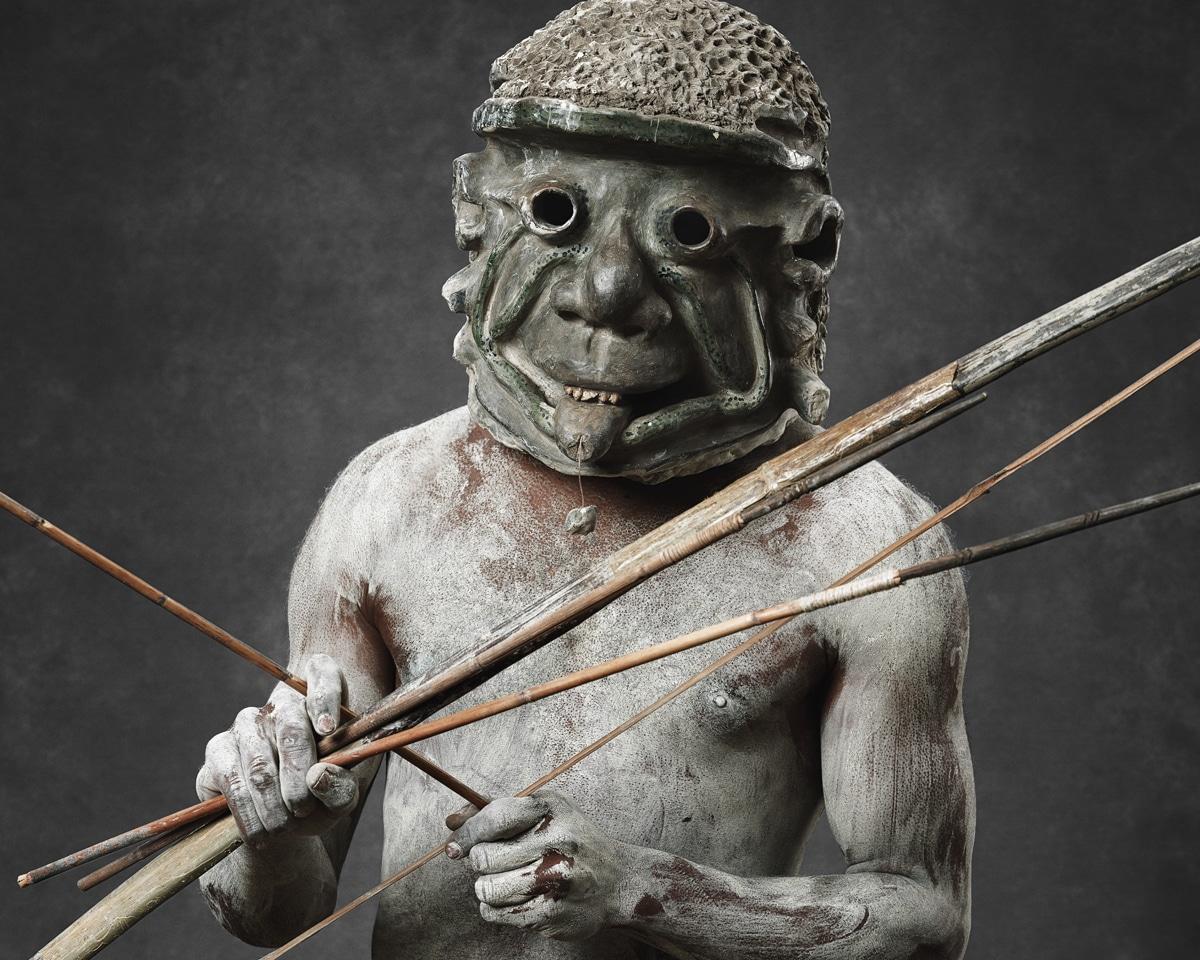 Faces of Papua New Guinea - Fine Art Portrait Serie - Mud Men - Bow and Arrow