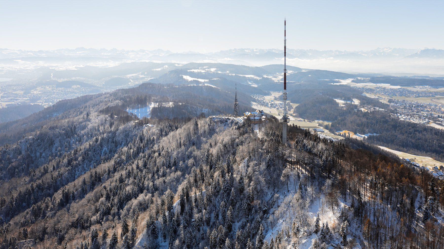 Luftaufnahme Uetliberg / Uto Kulm - Knonaueramt, Glarneralpen