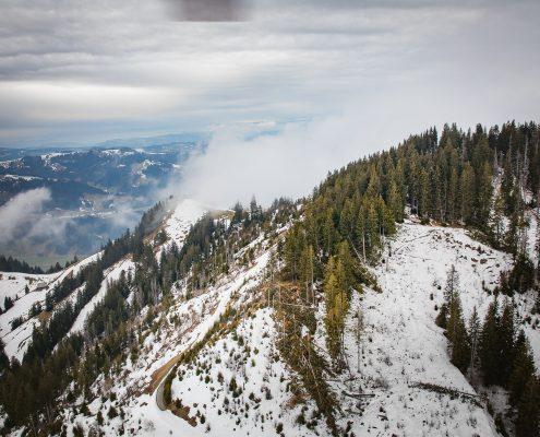 """Schadenaufnahme des Sturmtiefs """"Burglind"""" im Kanton Luzern mit Hilfe von Luftaufnahmen"""