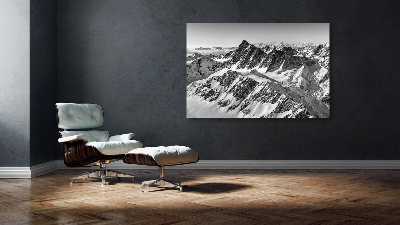 Finsteraarhorn, Grünhorn, Matterhorn, Dom, Monterosa