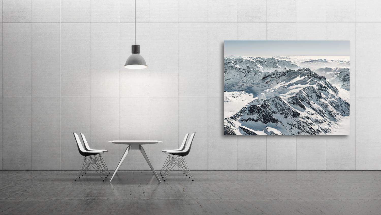 Fine Art - Luftaufnahme - Gauligletscher, Gauligebiet, Ewigschneehorn, Bächlistock