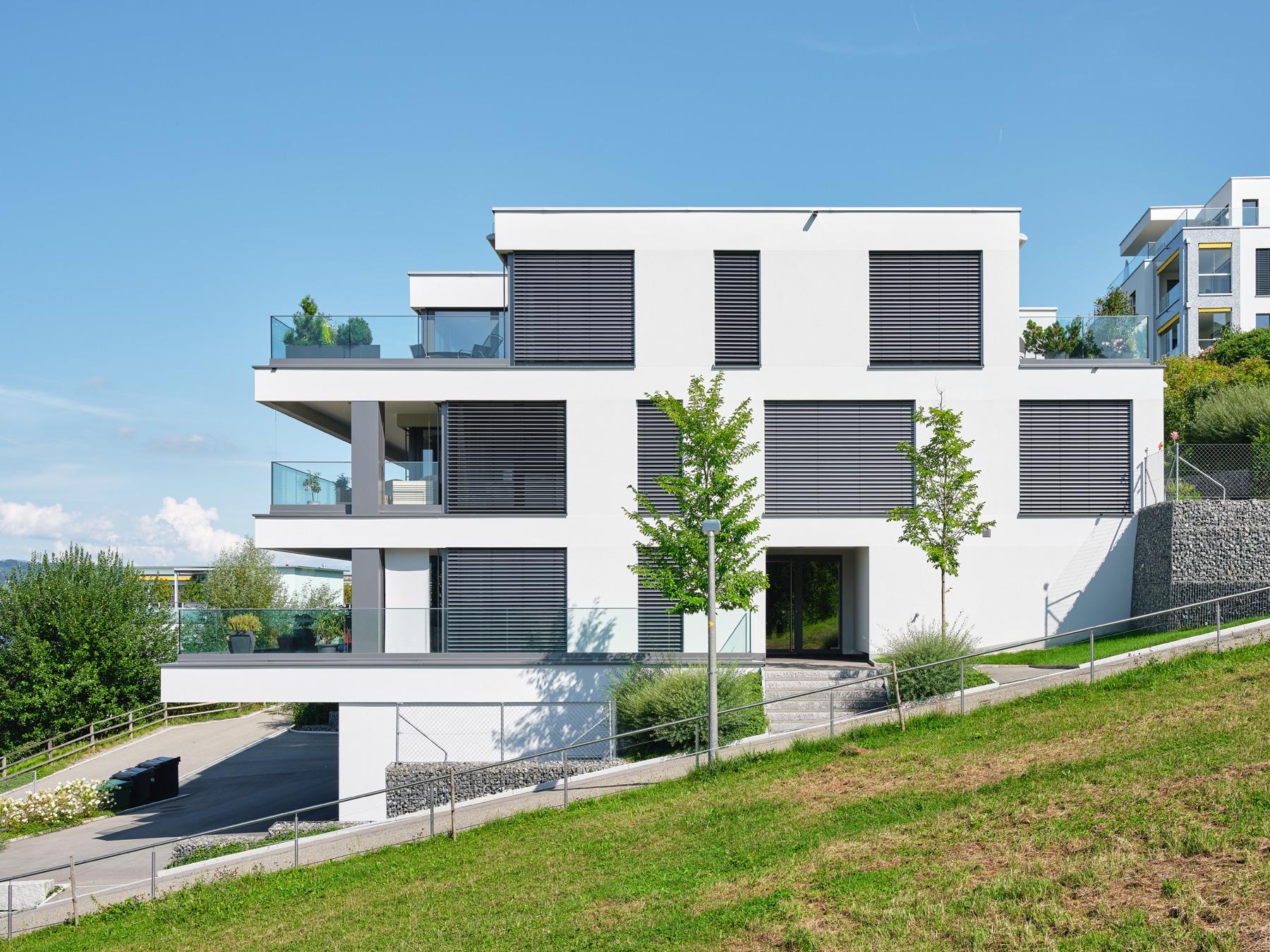 Architekturfotografie - Referenzobjekt - Wädenswil-Au - Sunset View - Mächler Generalunternehmung AG