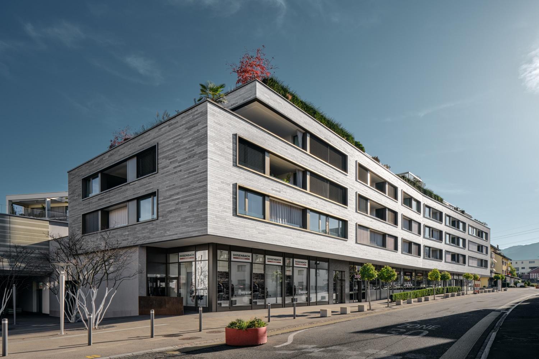 Architekturfotografie - Referenzobjekt - Obersee Living - Dorf - Mächler Generalunternehmung AG / MB Architekten AG, 8853 Lachen