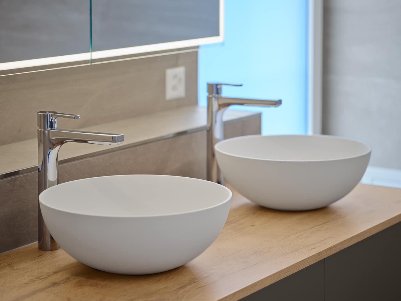 Bad Zwei Waschbecken HOESCH Lavabo