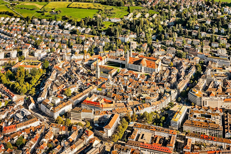 St. Gallen mit Kloster St. Katharina im Zentrum