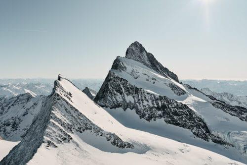 Schweizer Berge - Finsteraarhorn mit Agassizhorn
