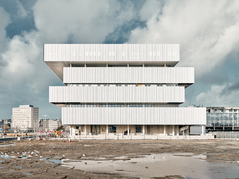 Frankreich - Le Havre - neuer Campus für das Projekt - Digitale Stadt + EM Normandie
