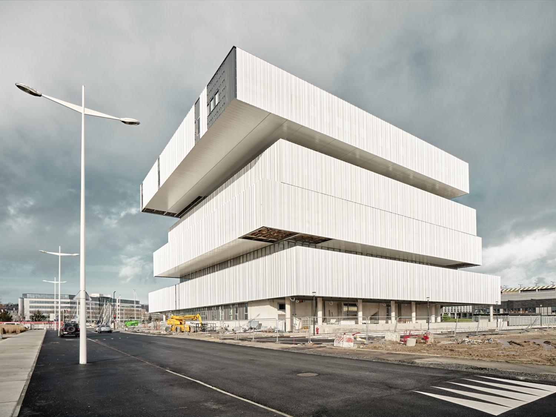 Frankreich - Le Havre - neues Gebäude für das Projekt - Digitale Stadt - EM Normandie Eröffnung im 2020
