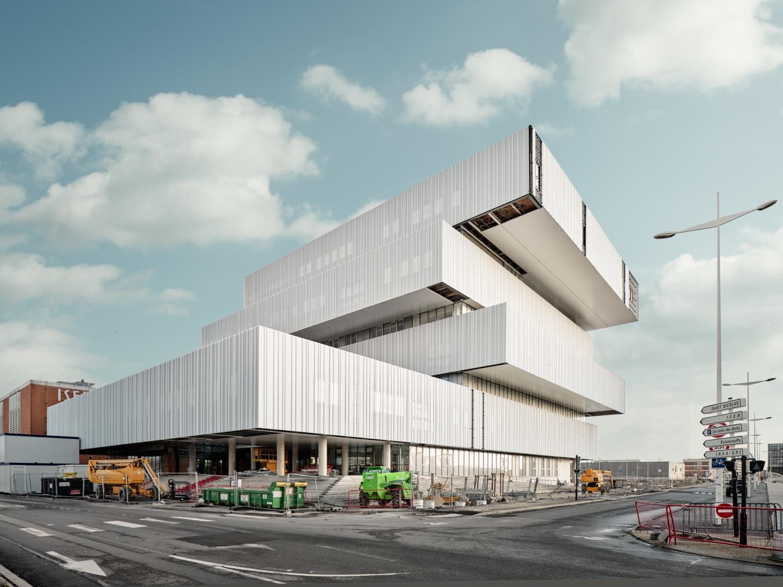 Frankreich – Le Havre – neues Gebäude für das Projekt – Digitale Stadt – EM Normandie