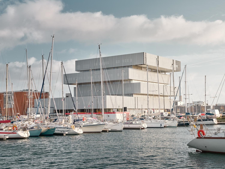 Frankreich - Le Havre - neues Gebäude für das Projekt - Digitale Stadt - EM Normandie