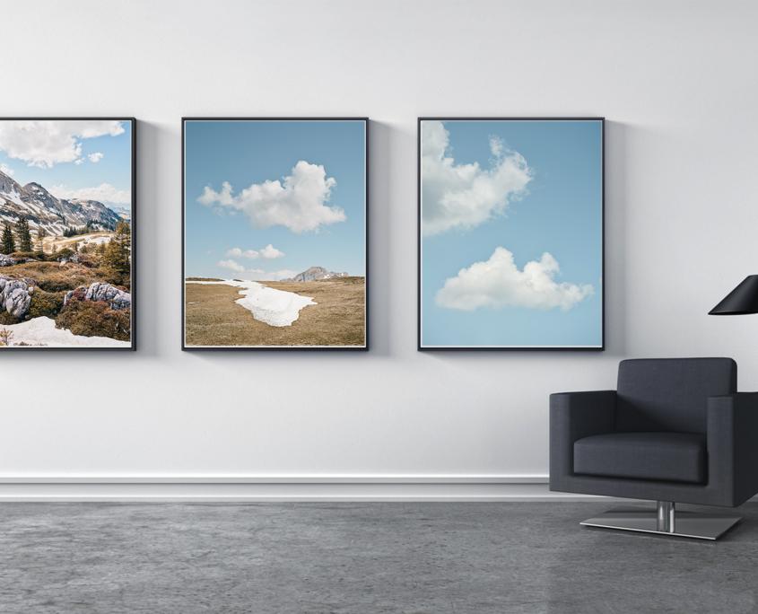 Triptychon - der Winter geht auf Reisen - der Frühling kommt! Bergfrühling Schwyz Unteriberg Leiterenstollen Alp Schönenbüehl Wannenstock Fidisberg Piet
