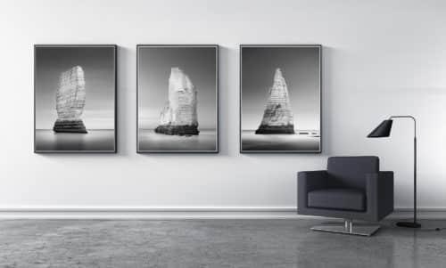 Triptychon - Normandie - d'Etretat - Falaises - Monolith